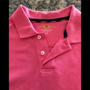 Used Club Room men's stretch polo. Radiant Rose. M